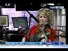 Natalie MacMaster fiddles on CTV Morning Live! I grew up with my father playing fiddle music. I love it!!