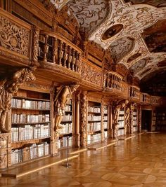 Library in the monastery of Waldsassen, Bavaria, Germany