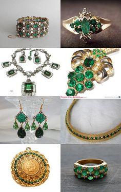 Emerald Dreams ~ A #VJSE2 Group Team #Treasury by www.GoldiesNaturalGems.Etsy.com--Pinned with TreasuryPin.com