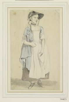A young girl, standing Paul Sandby, Royal Collection Trust/© Her Majesty Queen Elizabeth II 2014 18th Century Clothing, 18th Century Fashion, Vintage Witch, Vintage Halloween, Halloween Halloween, Halloween Makeup, Halloween Costumes, Historical Costume, Historical Clothing