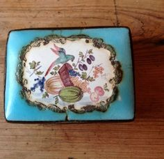 Staffordshire Enamel Box C1770..antique Snuff Box/patch Box | eBay