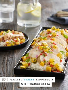 Savor the last of summer's warm weather with this recipe for Grilled Turkey Tenderloin with Mango Salsa.