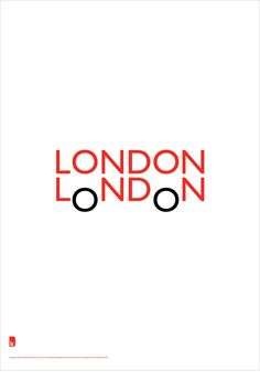 'LONDON LoNDoN' promotional poster : double decker design. {Quentin Newark, Atelier Works}