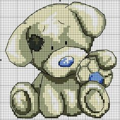 Explore photos on Photobucket. Snowman Cross Stitch Pattern, Cute Cross Stitch, Cross Stitch Animals, Cross Stitch Charts, Cross Stitch Patterns, Graph Crochet, Crochet Cross, Tatty Teddy, Teddy Bear Crafts