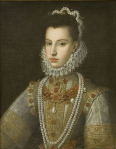 ab. 1582-1584 Alonso Sánchez Coello - Portrait of the Infanta Catherine Michelle
