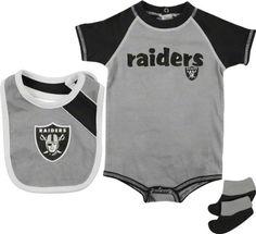 Reebok Oakland Raiders Infant Silver-Black Creeper 5bb2d639a