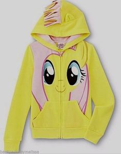 My Little PONY Fluttershy Jacket Girl's 4/5 NeW Pink Mane on the Hood Hoodie NWT #Hasbro #Everyday