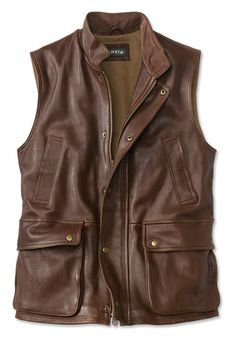 Just found this Leather+Vests+-+Lambskin+Munitions+Leather+Vest+--+Orvis on Orvis.com!