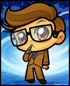How to Draw Chibi Dr Who  (CUTEST. THING. EVER!!)