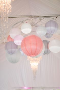 As y'all know, we DIY'd a lot of wedding projects. I reeeeeeally wanted to incorporate paper lanterns in a creative way to give our decor a sense of whimsy, so I landed on the idea of a… Diy Wedding Tent, Wedding Tent Decorations, Diy Outdoor Weddings, Diy Wedding Reception, Wedding Lanterns, Reception Ideas, Wedding Lighting, Marquee Wedding, Wedding Ideas