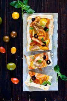Mónica López: Tartaleta de tomates y queso de cabra/ Tomatoes tartalette with goat cheese