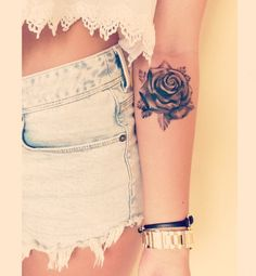 Tatouage de rose #Rose #Tattoo