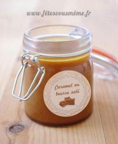 Recette de caramel beurre salé, avec en bonus une étiquette pour le pot à télécharger sur le site www.fetesvousmeme.fr