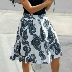 Pauline Swing Skirt Great for summer swing skirt with beautiful detail.  Made with 100% polyester. Relished Skirts A-Line or Full