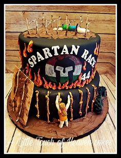 Spartan race birthday cake.