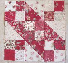 Jacob's ladder block ~ tutorial & tips ~~ vis sewmanyways . Quilting Tutorials, Quilting Projects, Quilting Designs, Triangle Quilt Tutorials, Quilting Ideas, Sewing Projects, Quilt Block Patterns, Pattern Blocks, Quilt Blocks