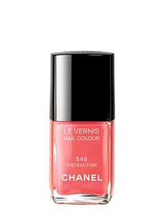 Chanel polish addict @Kaitlyn Mattson Mattson Lee told us she couldn't resist adding the brand's Distraction coral to her (embarrassingly large) collection #nails #nailpolish