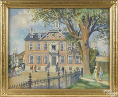 """""""Newport, Rhode Island Colony House,"""" Helena Sturtevant, oil on canvas, 20' x 25', private collection."""