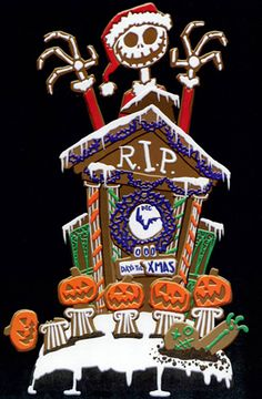 *JACK SKELLINGTON ~ The Nightmare before Christmas, 1993....Halloween gingerbread house
