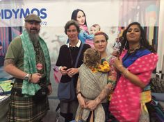 Babywearing Conference 2017 in Chicago with DIDYMOS Tina Hoffmann, Thekilteddad with Shamrock hemp, Wrapyouinlove with a not yet released heart wrap and twinmommy101 with Dots pink with hemp