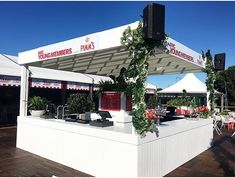 Plant hire, Landscaping and custom builds Melbourne - Event Plants Sports Marketing, Event Marketing, Caulfield Cup, Event Styling, Pergola, Outdoor Structures, Entertaining, Creative, Outdoor Decor