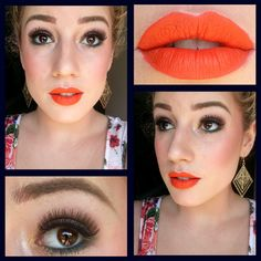 I love this look from @Sephora's #TheBeautyBoard http://gallery.sephora.com/photo/orange-lips-gold-eyes-7228