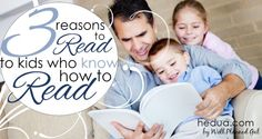 3 REASONS TO READ OUT LOUD TO KIDS WHO KNOW HOW TO READ - Many children wish their parents had kept reading to them out loud after they were school age. As for the children who don't wish this, I suspect they just don't know what they're missing. #reading #homeschooling hedua.com