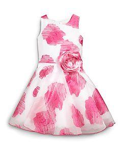 Zoe Girl's Organza Rose Dress
