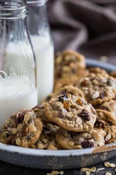 """completehappywithyou:  """"fullcravings:  """"Soft & Chewy Oatmeal Raisin Cookies  """" """""""