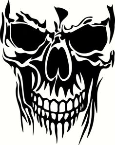 Brand New Skull 2179 Sticker and in stock. Self-adhesive, die cut, pre-masked and ready to apply to any smooth surface. High glossy finish, cut from premium 3 mill vinyl, with a life span of 5 - 7 years. Several size and color options are available. Skull Stencil, Stencil Art, Stencils, Animal Stencil, Skull Tattoo Design, Skull Tattoos, Arte Lowrider, Skull Silhouette, Skull Art