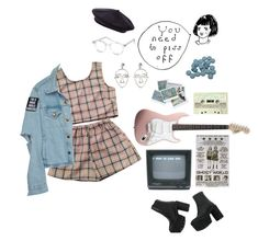 """fluffy"" by thishazyheadofmine ❤ liked on Polyvore featuring MANGO, Delfina and Spitfire"
