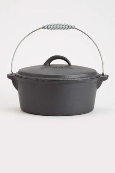 Cast Iron 4.5 quart Flat Bottom Dutch Oven