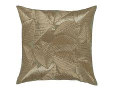 Leaves Taupe Cushion - a square filled cushion with contemporary leaf design in Taupe