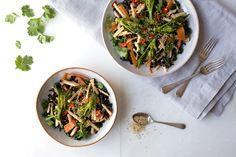 Kolrabi, Kale and Black Rice Salad #wrappedinnewspaper