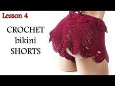 Шортики крючком - МК4 - Завершение - отделка / Crochet Shorts - DIY- Lesson 4 - YouTube Shorts Crochet, Diy Shorts, Diy Crochet, Vintage Crochet, Crochet Clothes, Crochet Bikini, Crochet Top, Swimsuit Pattern, Jumpsuit Pattern