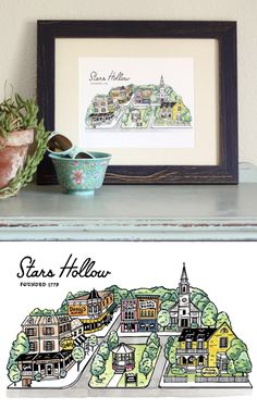 Gilmore Girls Stars Hollow Print! | Pins and Zines by Andrew J. Brozyna