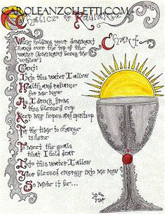 Chalice of Radiance Chant Parchment **Digital Download Version*** Exclusive Collection Authored and Illustrated by Carole Anzolletti by ThePhantomQueensLab on Etsy