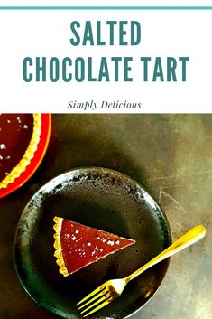 A delicious and super easy salted chocolate tart #chocolate #EasyDessertRecipes #Foodie #FoodieHub #Recipes #IrishFoodie