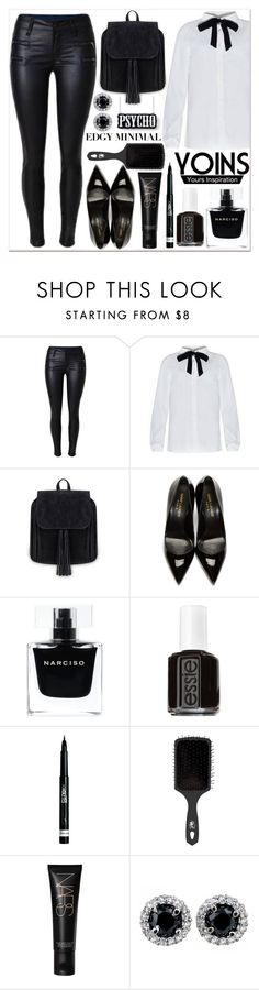 """""""Yoins 16"""" by black-fashion83 ❤ liked on Polyvore featuring Yves Saint Laurent, Narciso Rodriguez, Essie, Rimmel, The Wet Brush, NARS Cosmetics, women's clothing, women, female and woman"""