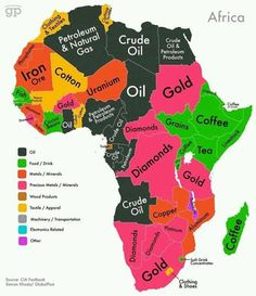 Africa and its minerals and oil deposits.  (at RVJLL...