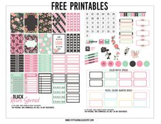 Be Free: Free Printable: Happy Planner 001