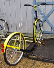 """This """"custom"""" scooter belongs to one of the Amish boys who works at the shop. #scooter #kick_scooter"""