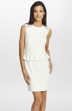 Cynthia Steffe 'Brooke' Ponte Knit Peplum Dress available at Nordstrom