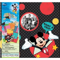 EK SUCCESS-Disney Collection: Scrapbook Kit. Now it's easier than ever to get your scrapbook started! This kit comes perfectly coordinated- the embellishments and papers compliment the designer album in ways that beautifully showcase your memories.