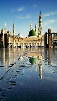 Masjid al Nabawi after rain
