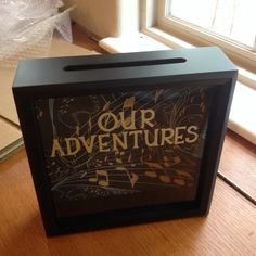 OUR ADVENTURES Ticket Stub, Shadow Box, Girlfriend Gift, Personalized Gifts, Teen Gifts, Valentine's Day Gift,  Anniversary Gift, Admit One by CelebratingTheMoment on Etsy https://www.etsy.com/listing/215898425/our-adventures-ticket-stub-shadow-box