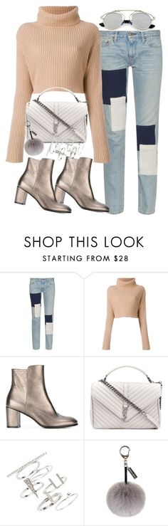 """Untitled #3639"" by amylal ❤ liked on Polyvore featuring Simon Miller, Valentino, Jean-Michel Cazabat, Yves Saint Laurent, Topshop, Helen Moore and Retrò"