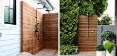 Poner una ducha exterior en el jardín