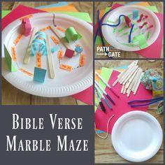 Bible Verse Marble Maze - Path Through the Narrow Gate