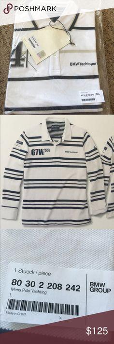 Men's White/Dark Blue Yachting Rugby Shirt Men's White/Dark Blue Yachting Rugby Shirt BMW Shirts